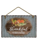 Thankful Grateful  Blessed galvanized metal Sign - $29.99