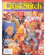 THANKSGIVING SCARECROW BRIDGES OF MADISON CROSS STITCH COUNTRY 1995 CHRI... - $6.99