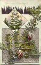 Christmas Greetings 1911 Post Card - $3.00