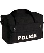 Black POLICE Tactical Gear Bag - Equipment Tool Work Duty Carry Law Enfo... - $16.99