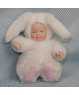 "Anne Geddes BUNNY BABY Plush with Porcelain Face/Hands Uniman Toys Ltd. 8"" 1997  - $14.92"