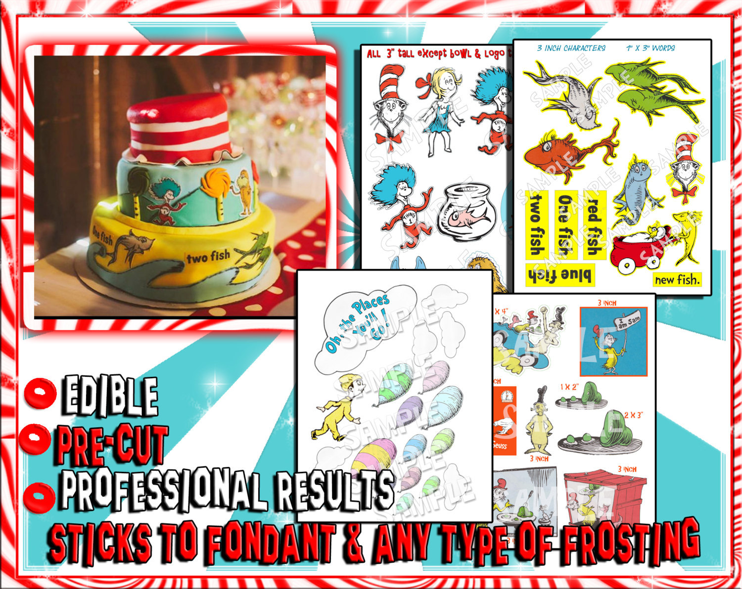 Prime Dr Seuss Edible Cake Decorations One Fish And 14 Similar Items Personalised Birthday Cards Epsylily Jamesorg