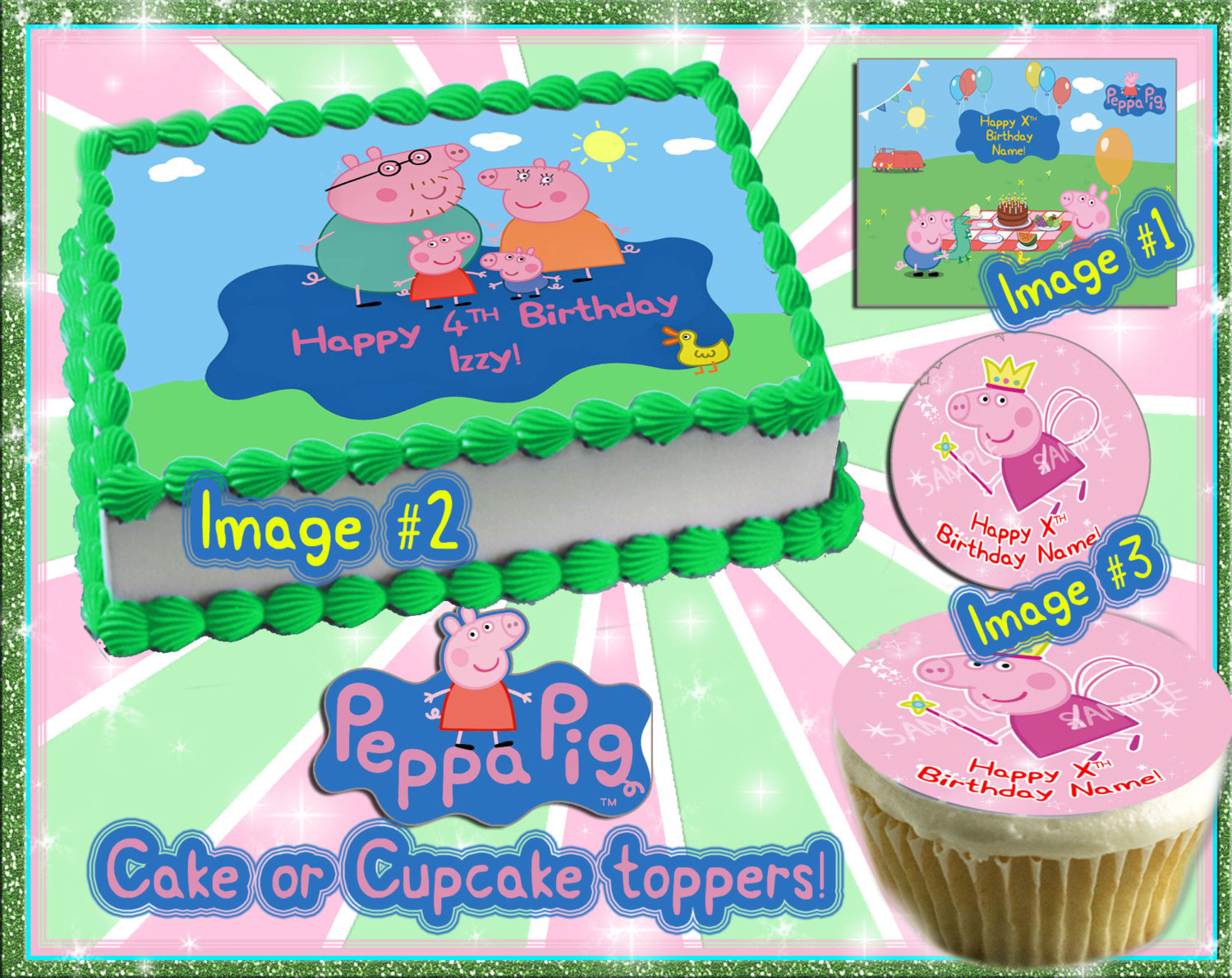 Miraculous Peppa Pig Edible Cake Toppers Birthday Sugar And 21 Similar Items Funny Birthday Cards Online Overcheapnameinfo