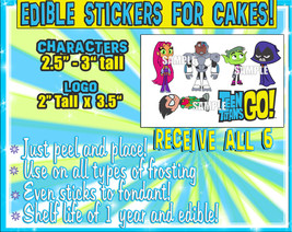 Teen Ttitans GO edible cake decorations - Sugar characters sheet picture... - $9.00