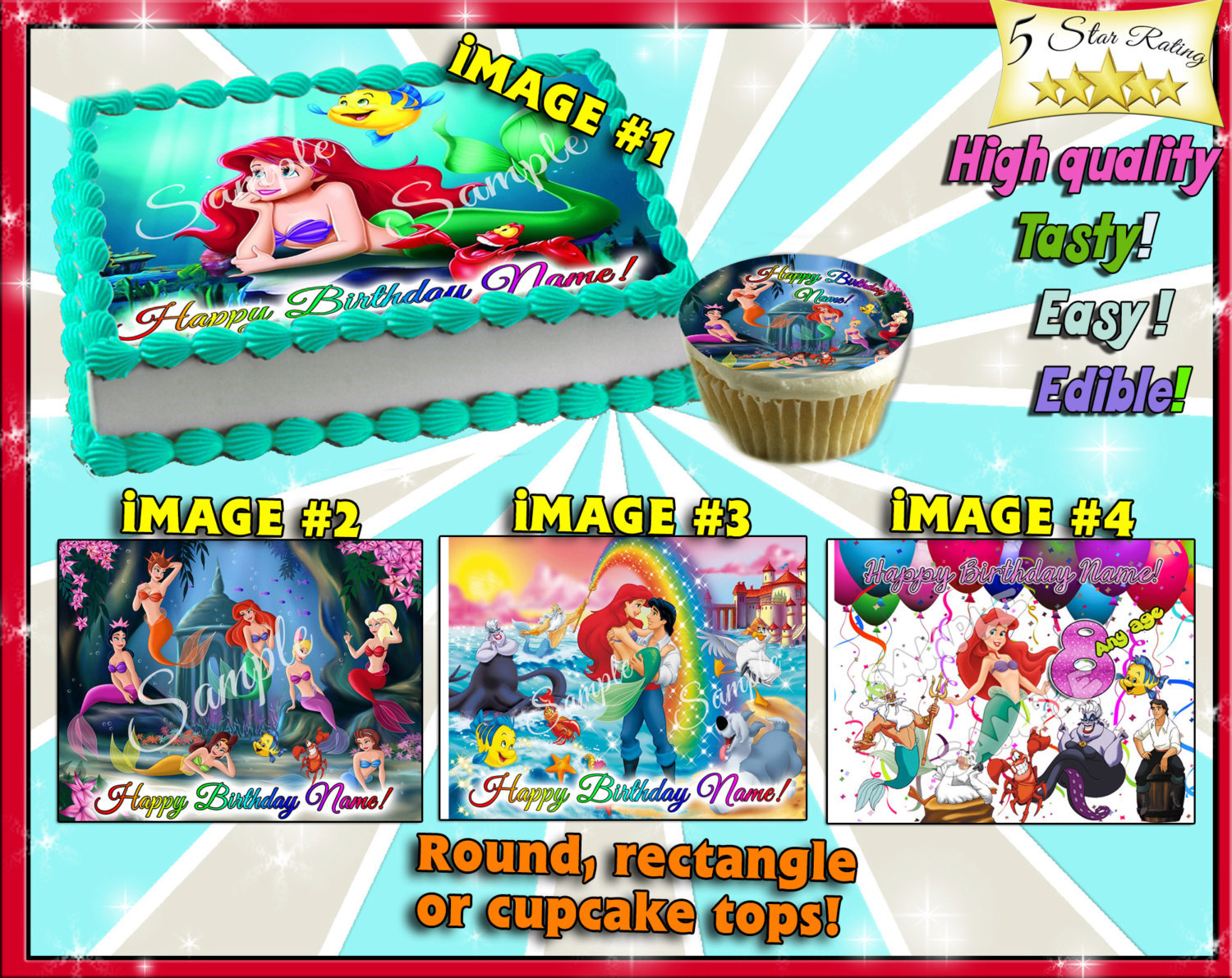 Admirable The Little Mermaid Personalized Edible Cake And Similar Items Funny Birthday Cards Online Alyptdamsfinfo
