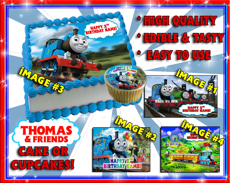 Thomas the tank engine edible cake toppers Birthday sugar ...