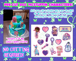 Pre-cut! Doc Mcstuffins edible cake decorations- Sugar characters pictur... - $14.00