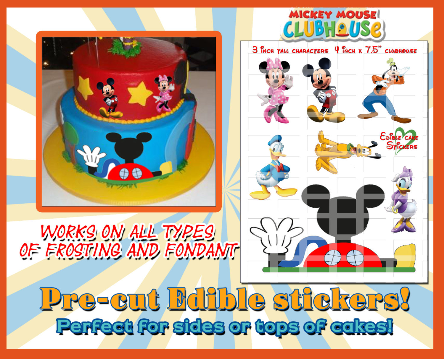 Mickey Mouse Edible Cake Decorations Sugar And Similar Items
