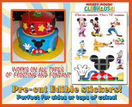 Mickey Mouse edible cake decorations - Sugar paper Characters picture de... - $14.00