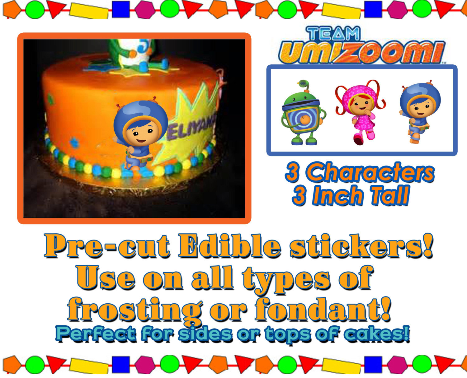Team Umizoomi Edible Cake Decorations