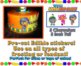 Team Umizoomi edible cake decorations - Sugar sheet Characters picture d... - $6.00