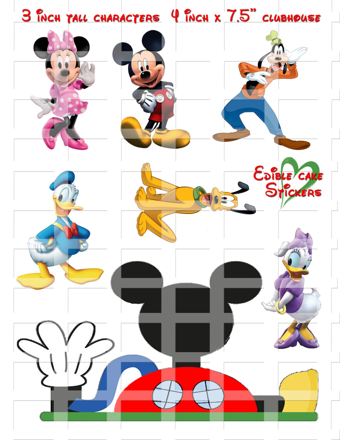 Mickey Mouse Edible Cake Decorations Sugar And 14 Similar Items