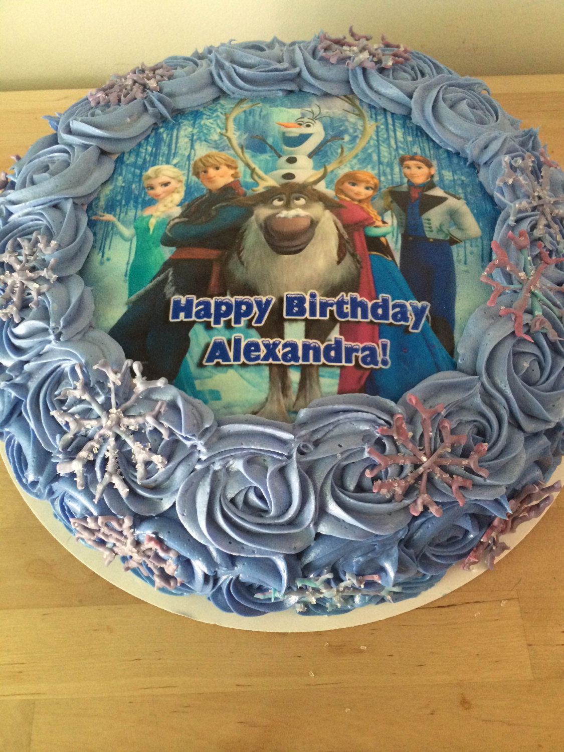 Excellent Disneys Frozen Cake Tops Sugar Paper Tops And 50 Similar Items Funny Birthday Cards Online Alyptdamsfinfo