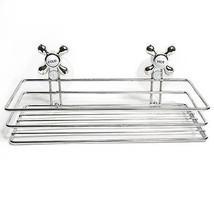 Chrome Suction Cup Soap Shampoo Shower Caddy De... - $12.49