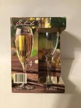 Libbey  6 Oz Clear Champagne Glasses Flutes Set of 4 - $9.90
