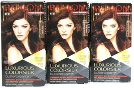 3 Revlon Luxurious Colorsilk Buttercream 45RG Bright Bronze Permanent Ha... - $25.99