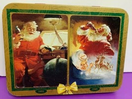 Santa Claus Coca Cola Playing Cards Collectors Tin 2 Decks 1997 Nostalgi... - $4.94