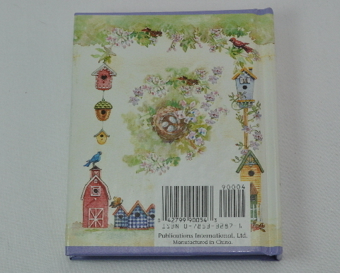 Mini Photo Book bird houses decoration 1998 ExcCond