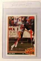 1991 Upper Deck Team MVP Jerry Rice #475 SF 49ers Raiders Football Card - $0.48
