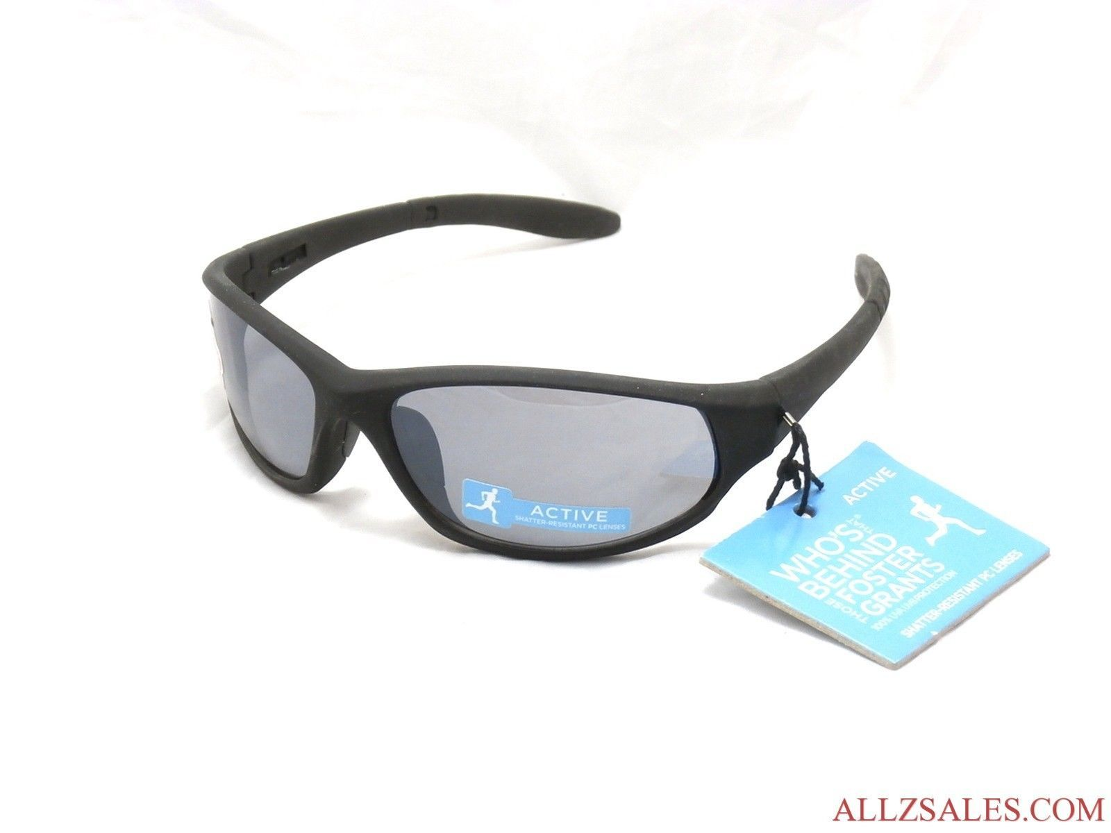 Primary image for Foster Grant GOALIE Sport Sunglasses New with Tag, Black / Gray #B6-3