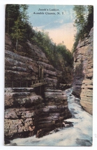 Ausable Chasm N.Y. Jacob's ladder Vintage 1914 Curteich Postcard New York - $4.99