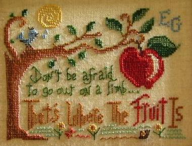 Out On A Limb cross stitch chart Primrose Needleworks