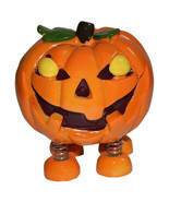 Spring Leg Pumpkin Monster Halloween Money Coin Bank - £11.96 GBP