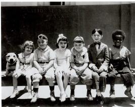 Little Rascals Bench  Vintage 28X35 BW Comedy TV Memorabilia Photo - $45.95