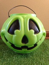 General Foam Green and Black Trick Or Treat Blow Mold Pail - $5.93
