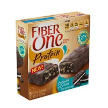 Fiber One Protein Chewy Bar Cookies and Crme 5 - 1.17 oz Bars - $9.87