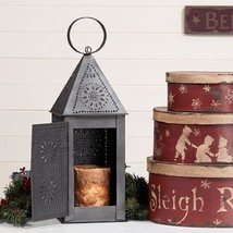 Punched Tin Square Lantern ~ Colonial Candle Ho... - $31.76