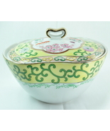Lenwile china Ardalt handpainted Oriental covered bowl gold trim - $8.99