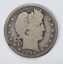 1896O Barber Quarter 25¢ Silver Liberty Head Coin Lot# MZ 4834