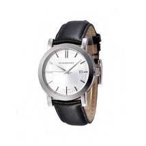 100% Authentic Burberry Watch BU1382 Brand New Men's Black Leather Wrist... - $199.00