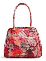 Vera Bradley Signature Cotton Turnlock Satchel Bag, Bohemian Blooms image 2