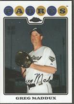 Greg Maddux Topps Chrome 2008 #163 San Diego Padres Chicago Cubs Atlanta Braves - $0.20