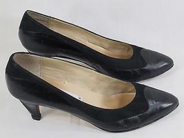 Enzo Angiolini Black Leather & Suede Trim Classic Pumps Size 7.5 N US Excellent - $16.71