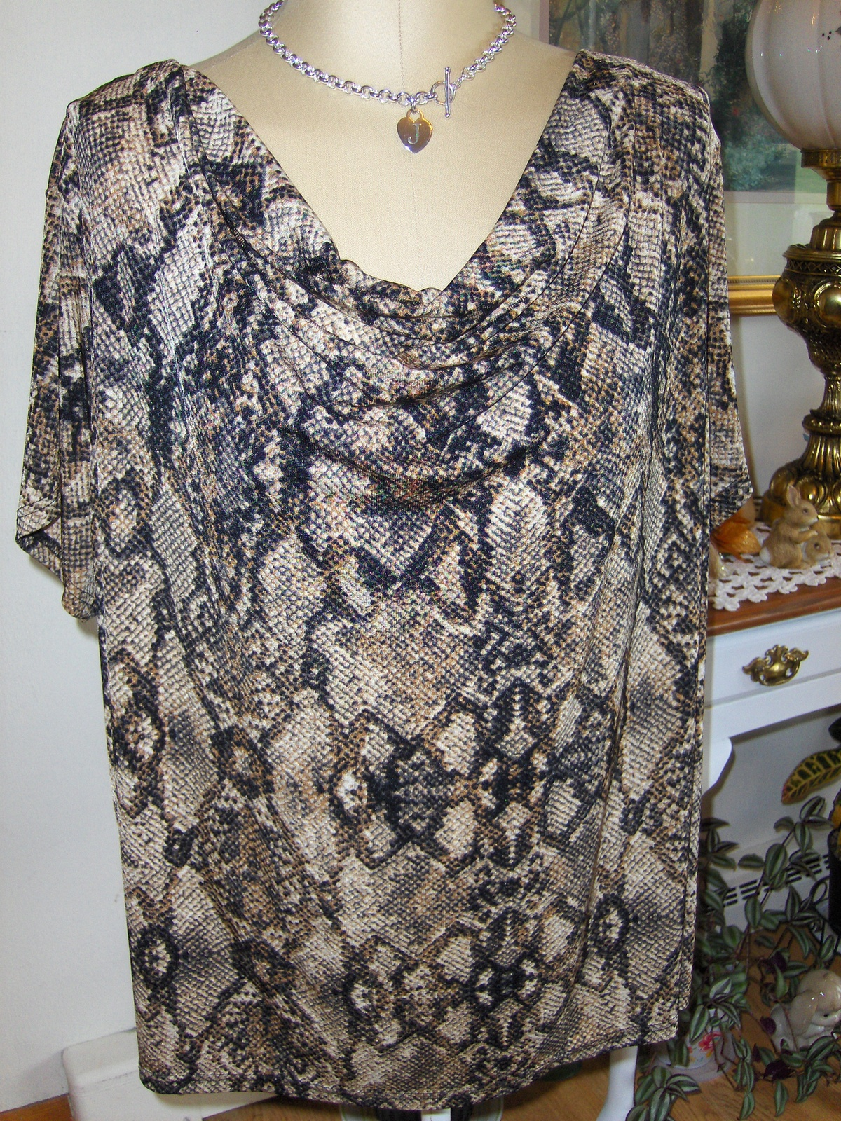 dbb6890f8c44f Jaclyn Smith Animal Print Top Cowl Neck and 31 similar items