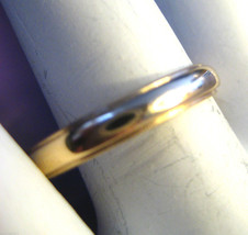 Mens Vintage 14k Yellow Gold Wedding Ring 3.55 mm Band Size 10.5  3,8g - €172,14 EUR