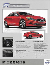 2012 Volvo S60 XC60 T6 R-DESIGN sales brochure sheet 12 US - $8.00