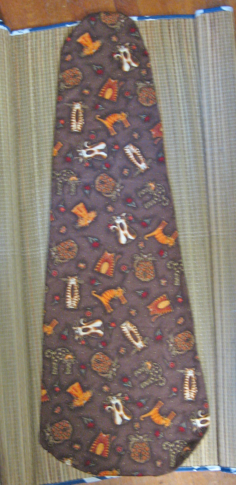 "Viola Blanket For 16"" Viola/Cats/Patchwork Print/Fall/Browns/Handcrafted!"