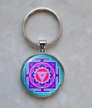 Kali Yantra Shiva Shakti Mandalam Meditation Keychain - $14.00+