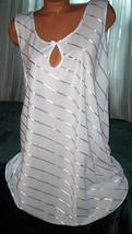 Blue Sleep Shirt Short Gown Keyhole Opening 3X  - $16.98