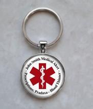 Medical Alert Your Custom Text Keychain - $14.00+