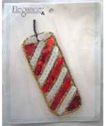 Vintage Stripe Red Firecracker Sequin Applique ... - $5.99