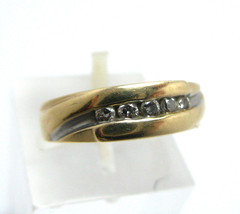 Ladies Vintage 14K Yellow Gold Ring with Channe... - $157.50