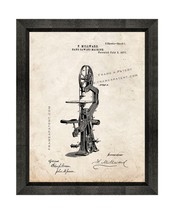 Band Sawing Machine Patent Print Old Look with Beveled Wood Frame - $24.95+