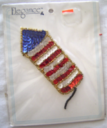 Vintage Rocket Firecracker Sequin Applique Sew-On Sequined Patch  NIP  - $8.99