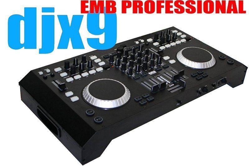 EMB Professional DJX9 4 Channels Controller DJ MIXER 2 Jog Wheels  Scratching+Con