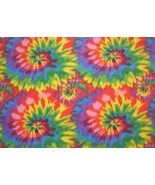 Tie Tye Dye Starburst Fleece Fabric Print by the Yard A511.09 - $6.97